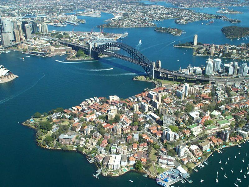 Сидней, Австралия вид сверху
